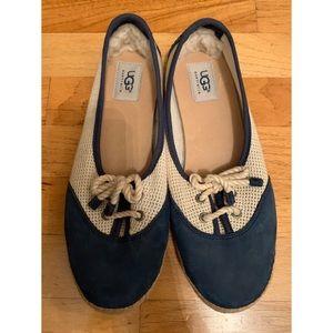 Ugg espadrille with sheepskin heel